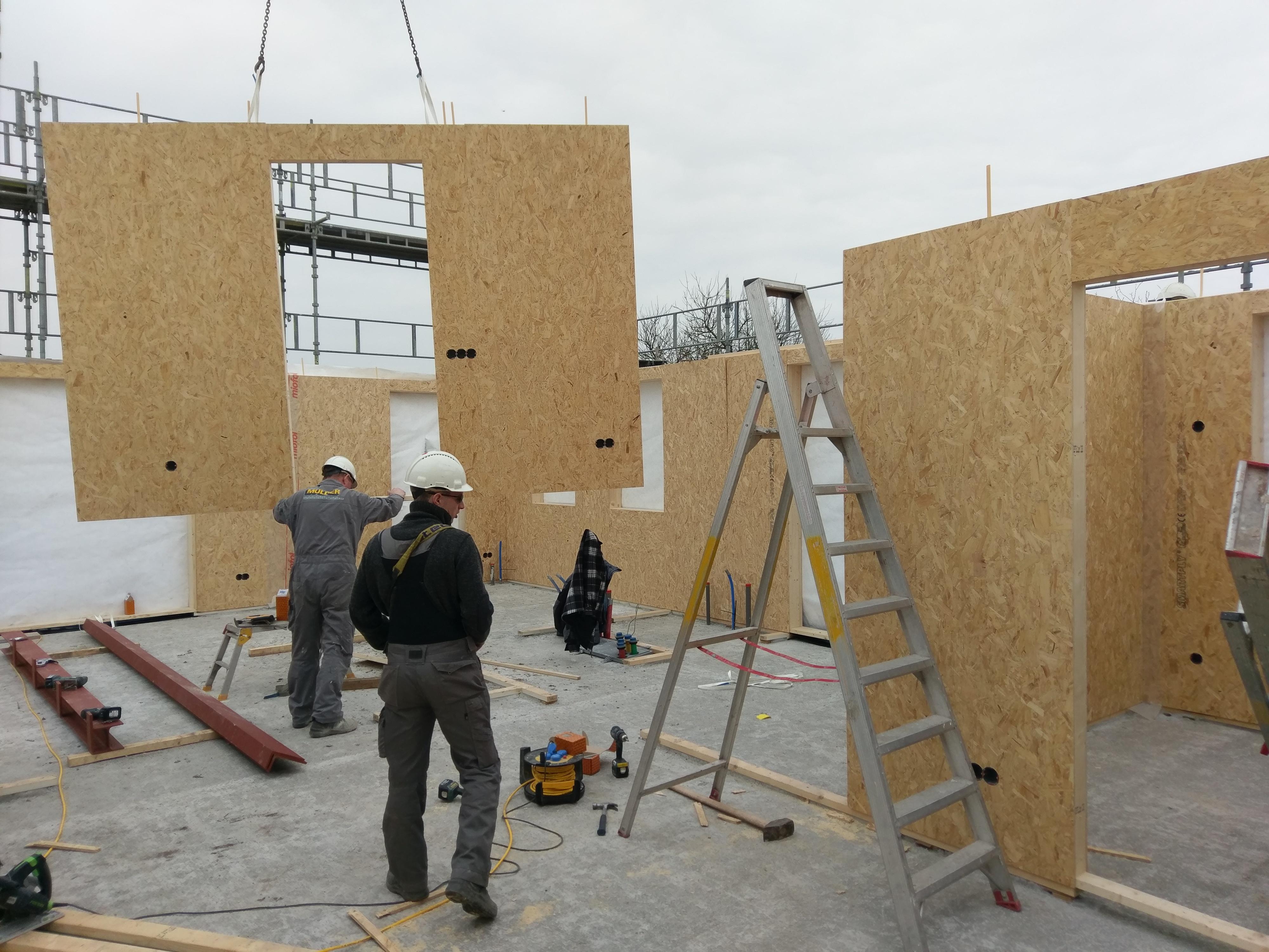 Voortgang nieuwbouw woning Nieuwolda