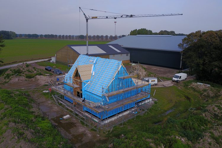 Voortgang nieuwbouw woning Niekerk