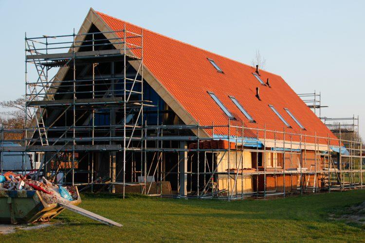 Voortgang nieuwbouw woning Wagenborgen