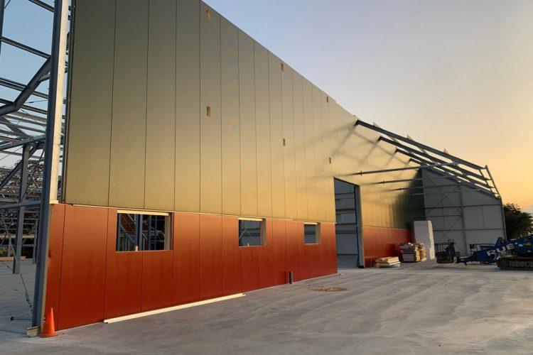 Voortgang nieuwbouw schuren Zijldijk