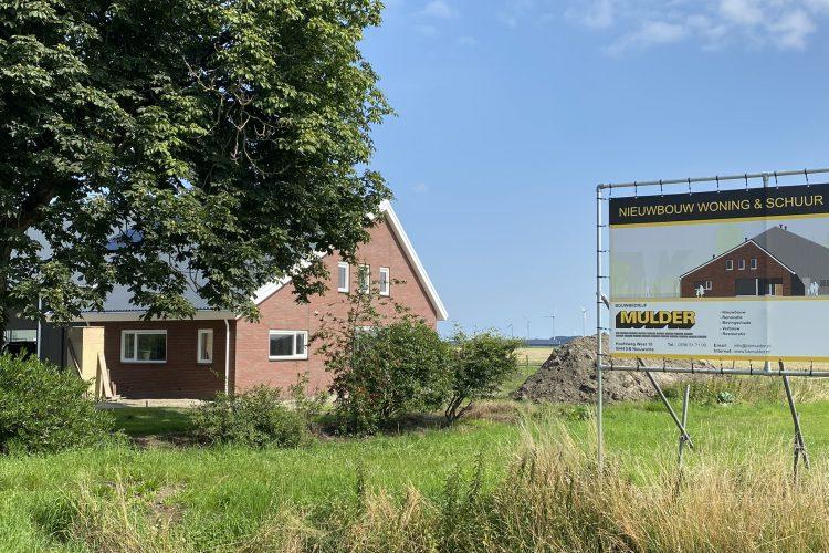 Voortgang bouw woning met schuur Wagenborgen